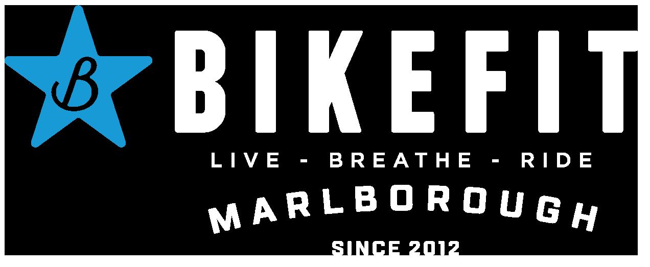 BikeFit logo horiz col white